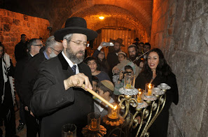 rabbi lau at kotel hakatan